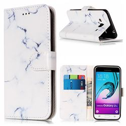 Soft White Marble PU Leather Wallet Case for Samsung Galaxy J3 2016 J320