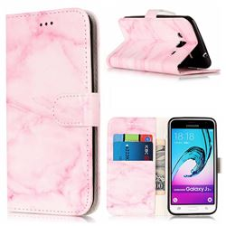 Pink Marble PU Leather Wallet Case for Samsung Galaxy J3 2016 J320