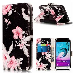 Azalea Flower PU Leather Wallet Case for Samsung Galaxy J3 2016 J320