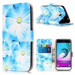 Orchid Flower PU Leather Wallet Case for Samsung Galaxy J3 2016 J320