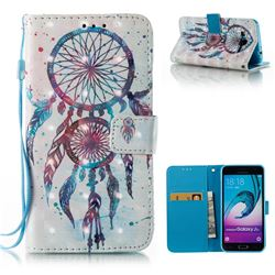 ColorDrops Wind Chimes 3D Painted Leather Wallet Case for Samsung Galaxy J3 2016 J320