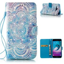 Mandala 3D Painted Leather Wallet Case for Samsung Galaxy J3 2016 J320
