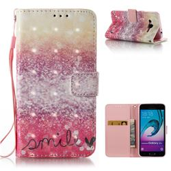 Desert Smile 3D Painted Leather Wallet Case for Samsung Galaxy J3 2016 J320