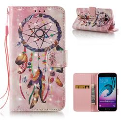 Bead Wind Chimes 3D Painted Leather Wallet Case for Samsung Galaxy J3 2016 J320
