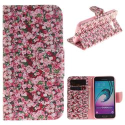 Intensive Floral PU Leather Wallet Case for Samsung Galaxy J3 2016 J320