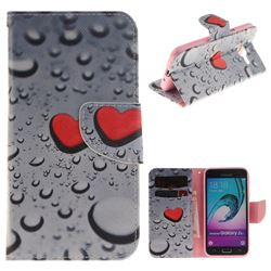 Heart Raindrop PU Leather Wallet Case for Samsung Galaxy J3 2016 J320
