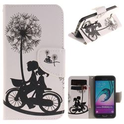 Cycling Dandelion PU Leather Wallet Case for Samsung Galaxy J3 2016 J320
