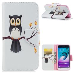 Owl on Tree Leather Wallet Case for Samsung Galaxy J3 2016 J320