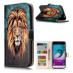 Ice Lion 3D Relief Oil PU Leather Wallet Case for Samsung Galaxy J3 2016 J320