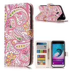 Pepper Flowers 3D Relief Oil PU Leather Wallet Case for Samsung Galaxy J3 2016 J320
