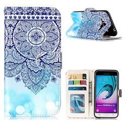 Totem Flower 3D Relief Oil PU Leather Wallet Case for Samsung Galaxy J3 2016 J320