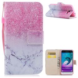 Marble Powder PU Leather Wallet Case for Samsung Galaxy J3 2016 J320