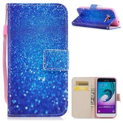 Blue Powder PU Leather Wallet Case for Samsung Galaxy J3 2016 J320