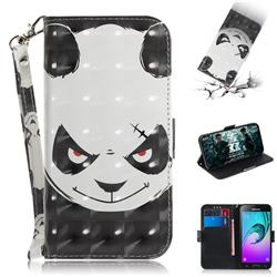 Angry Bear 3D Painted Leather Wallet Phone Case for Samsung Galaxy J3 2016 J320