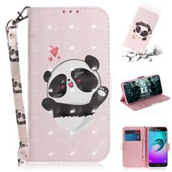 Heart Cat 3D Painted Leather Wallet Phone Case for Samsung Galaxy J3 2016 J320
