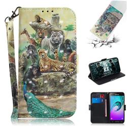 Beast Zoo 3D Painted Leather Wallet Phone Case for Samsung Galaxy J3 2016 J320