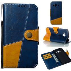 Retro Magnetic Stitching Wallet Flip Cover for Samsung Galaxy J3 2016 J320 - Blue