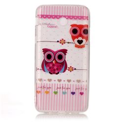 Owls Flower Super Clear Soft TPU Back Cover for Samsung Galaxy J3 2017 Emerge