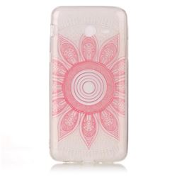 Pink Mandala Super Clear Soft TPU Back Cover for Samsung Galaxy J3 2017 Emerge