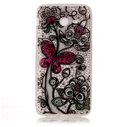 Butterfly Flowers Super Clear Soft TPU Back Cover for Samsung Galaxy J3 2017 Emerge