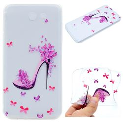 Petal High Heels Super Clear Soft TPU Back Cover for Samsung Galaxy J3 2017 Emerge US Edition