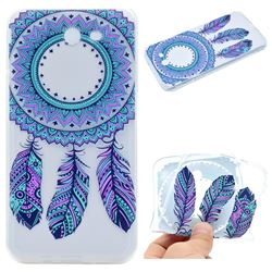 Blue Feather Campanula Super Clear Soft TPU Back Cover for Samsung Galaxy J3 2017 Emerge US Edition