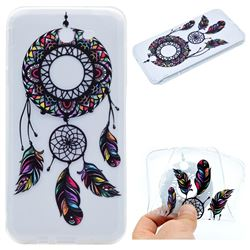 Feather Black Wind Chimes Super Clear Soft TPU Back Cover for Samsung Galaxy J3 2017 Emerge US Edition