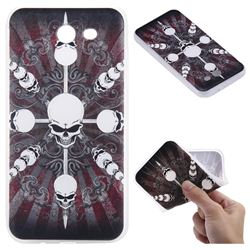 Compass Skulls 3D Relief Matte Soft TPU Back Cover for Samsung Galaxy J3 2017 Emerge US Edition
