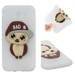 Bad Boy Owl Soft 3D Silicone Case for Samsung Galaxy J3 2017 Emerge US Edition - Translucent White