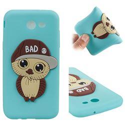 Bad Boy Owl Soft 3D Silicone Case for Samsung Galaxy J3 2017 Emerge US Edition - Sky Blue