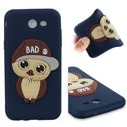 Bad Boy Owl Soft 3D Silicone Case for Samsung Galaxy J3 2017 Emerge US Edition - Navy