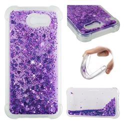 Dynamic Liquid Glitter Sand Quicksand Star TPU Case for Samsung Galaxy J3 2017 Emerge US Edition - Purple