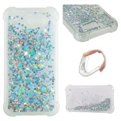 Dynamic Liquid Glitter Sand Quicksand Star TPU Case for Samsung Galaxy J3 2017 Emerge US Edition - Silver