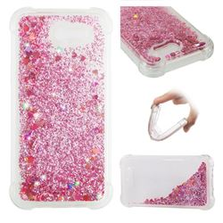 Dynamic Liquid Glitter Sand Quicksand Star TPU Case for Samsung Galaxy J3 2017 Emerge US Edition - Diamond Rose