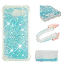 Dynamic Liquid Glitter Sand Quicksand TPU Case for Samsung Galaxy J3 2017 Emerge US Edition - Silver Blue Star