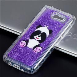 Naughty Panda Glassy Glitter Quicksand Dynamic Liquid Soft Phone Case for Samsung Galaxy J3 2017 Emerge US Edition