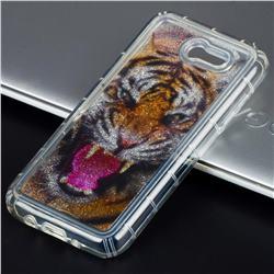 Tiger Glassy Glitter Quicksand Dynamic Liquid Soft Phone Case for Samsung Galaxy J3 2017 Emerge US Edition