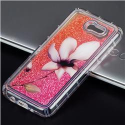 Lotus Glassy Glitter Quicksand Dynamic Liquid Soft Phone Case for Samsung Galaxy J3 2017 Emerge US Edition