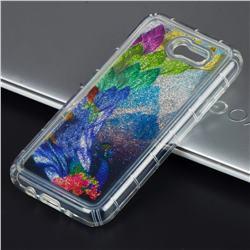 Phoenix Glassy Glitter Quicksand Dynamic Liquid Soft Phone Case for Samsung Galaxy J3 2017 Emerge US Edition
