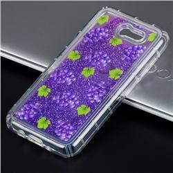 Purple Grape Glassy Glitter Quicksand Dynamic Liquid Soft Phone Case for Samsung Galaxy J3 2017 Emerge US Edition