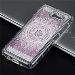 Mandala Glassy Glitter Quicksand Dynamic Liquid Soft Phone Case for Samsung Galaxy J3 2017 Emerge US Edition