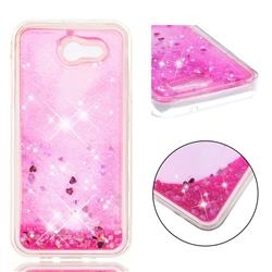Dynamic Liquid Glitter Quicksand Sequins TPU Phone Case for Samsung Galaxy J3 2017 Emerge US Edition - Rose