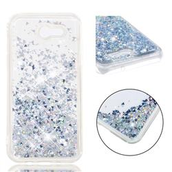 Dynamic Liquid Glitter Quicksand Sequins TPU Phone Case for Samsung Galaxy J3 2017 Emerge US Edition - Silver
