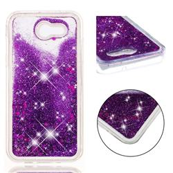 Dynamic Liquid Glitter Quicksand Sequins TPU Phone Case for Samsung Galaxy J3 2017 Emerge US Edition - Purple