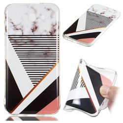 Pinstripe Soft TPU Marble Pattern Phone Case for Samsung Galaxy J3 2017 Emerge US Edition