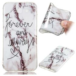 Forever Soft TPU Marble Pattern Phone Case for Samsung Galaxy J3 2017 Emerge US Edition