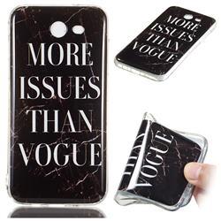 Stylish Black Soft TPU Marble Pattern Phone Case for Samsung Galaxy J3 2017 Emerge US Edition