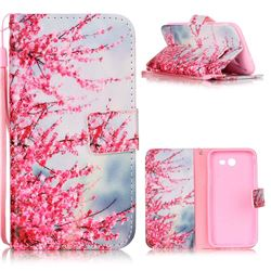 Plum Flower Leather Wallet Phone Case for Samsung Galaxy J3 2017 Emerge