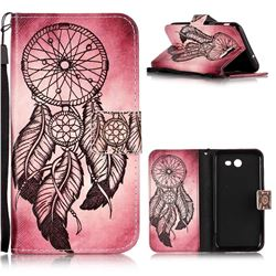 Wind Chimes Leather Wallet Phone Case for Samsung Galaxy J3 2017 Emerge