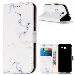 Soft White Marble PU Leather Wallet Case for Samsung Galaxy J3 2017 Emerge